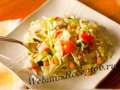 Крабовый салат с семечками