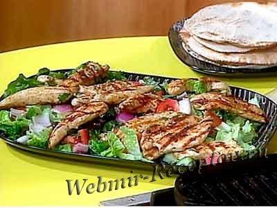 Теплый салат с овощами