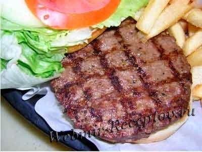 Бифштекс говяжий рубленый