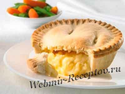 Луковый пирог с твердым сыром