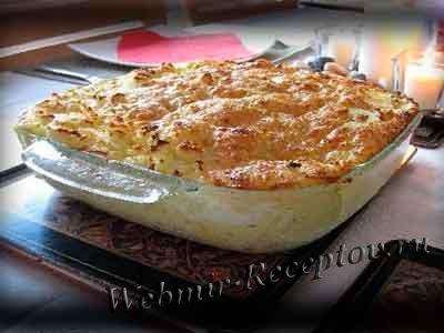 Пирог с рыбой с твердым сыром