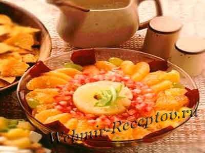 Фруктово-овощной салат с растительным маслом