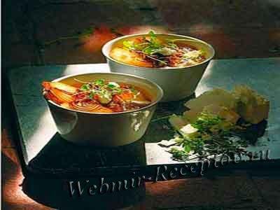 Луковый суп с зеленью