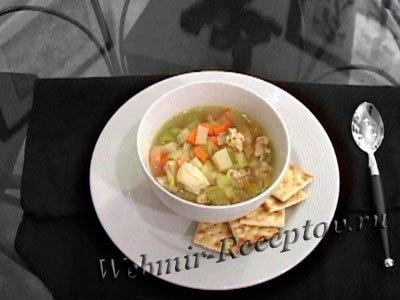 Суп из утки с яблоками