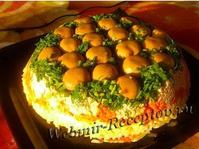 салат грибная полянка фото и рецепт с фото