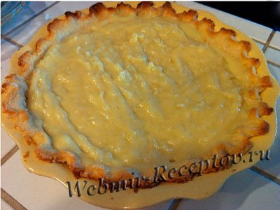 Пирог с корицей на желтках