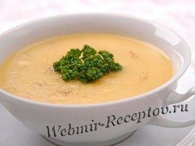 Картофельный суп-пюре на мясном бульоне