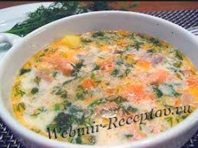 Суп-пюре из копченой форели