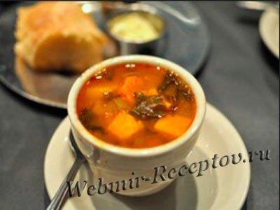 Фасолевый суп-пюре с палтусом