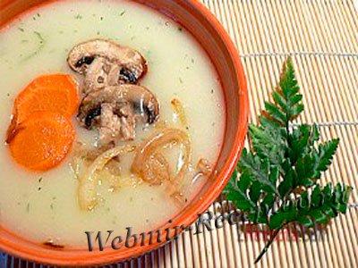 Суп-пюре с картофелем и шампиньонами
