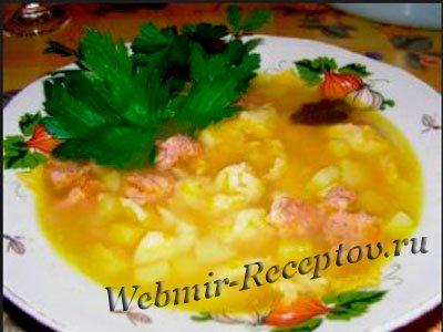 Луковый суп с клецками