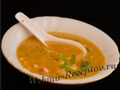 Кукурузный суп с яйцами