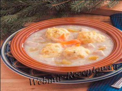 Суп с морковными клецками