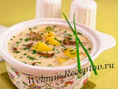 Молочный суп с
