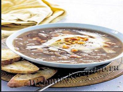 Луковый суп-пюре с яйцами