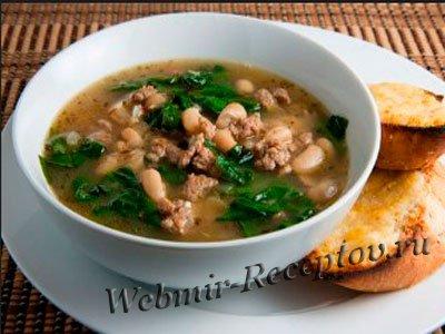 Суп с сельдереем и колбасой