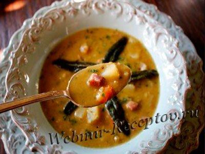 Суп из гороховых хлопьев