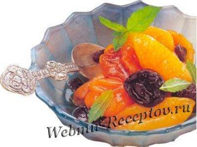 Десерт из сухофруктов