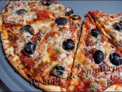"""Пицца с маслинами """"Минутка"""""""