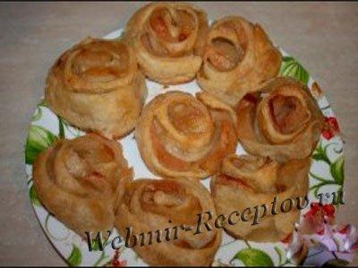 """Пирожные """"Яблочные розы"""""""