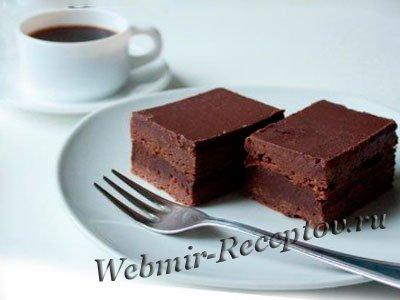 """Шоколадное пирожное """"Брауни"""""""