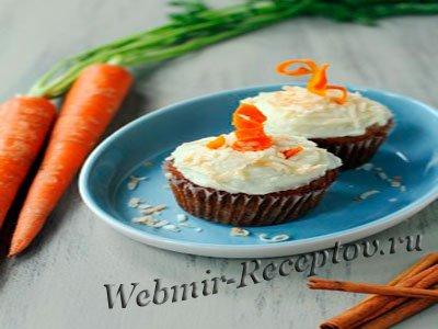 Морковные кексы с орехами