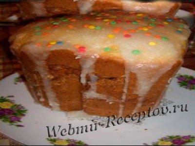 Кулич мраморный в хлебопечке