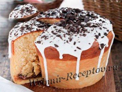 Кулич с шоколадом в хлебопечке