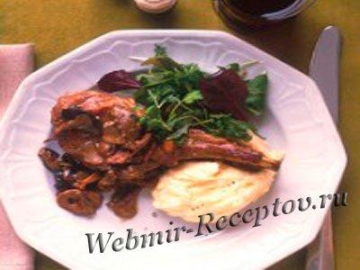 Телятина, фаршированная картофелем и луком