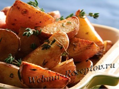 Картофель, запеченный с тимьяном