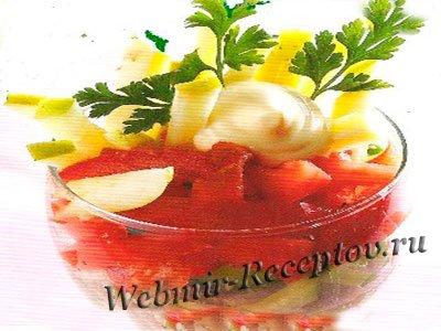 """Овощной салат """"Весенний коктейль"""