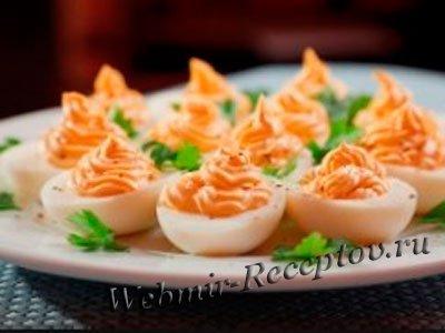 Яйца с начинкой из горчичного крема