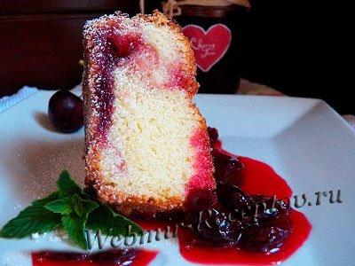 Вишневый торт с ржаным хлебом