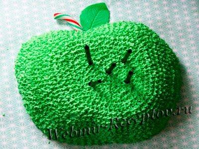 Зеленый яблочный торт