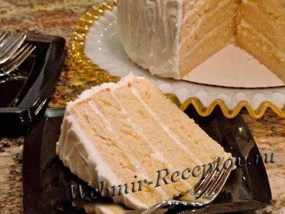 Грушевый торт с пахтой и лимонадом