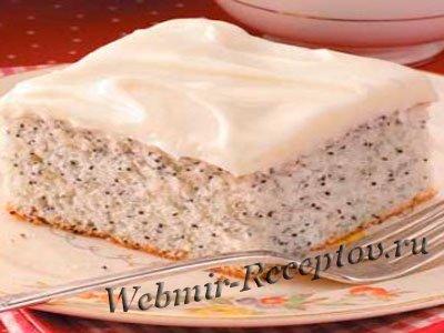 Торт с маком и брусникой