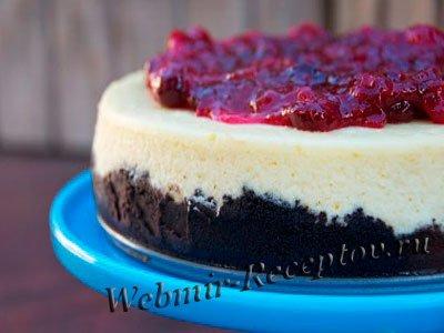 Торт с черникой и маком