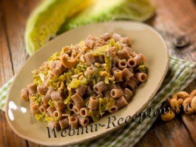 Макароны с савойской капустой запеченные в духовке