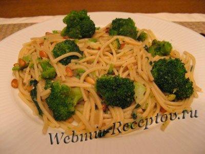 Спагетти с брокколи, анчоусами и сыром боттарга