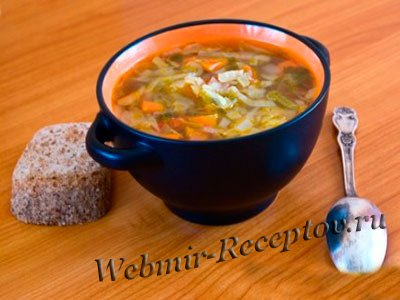 Суп из седьерея и колбасок