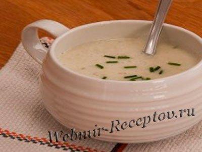 Суп из дикого артишока и миндаля