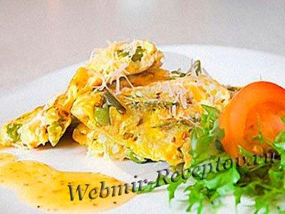 Тальята с зеленью репы и сыром пекорино