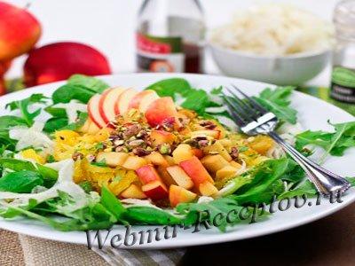 Теплый салат из фенхеля с шафраном