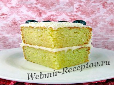 Торт с лимонной цедрой