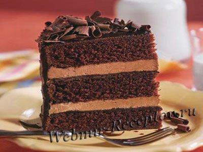 Трехслойный шоколадный торт