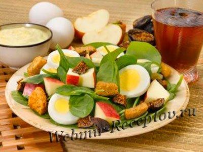 Яичный салат с яблоками
