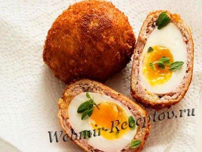Яйца, азпеченные в телятине