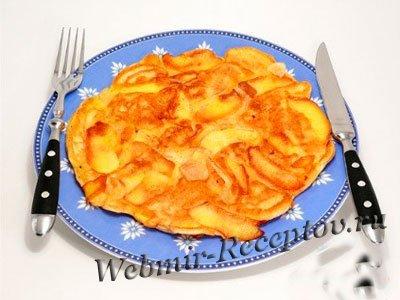 Омлет с яблоками