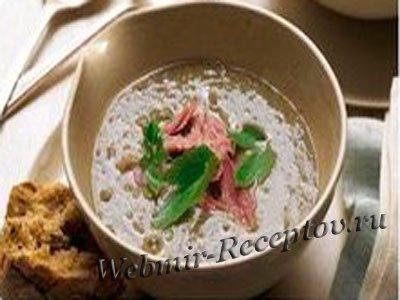 Суп-пюре из телячьей печенки