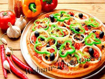 """Пицца с маслинами """"Розочка"""""""